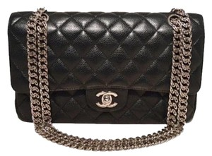 Chanel Classic Caviar Leather Shoulder Bag