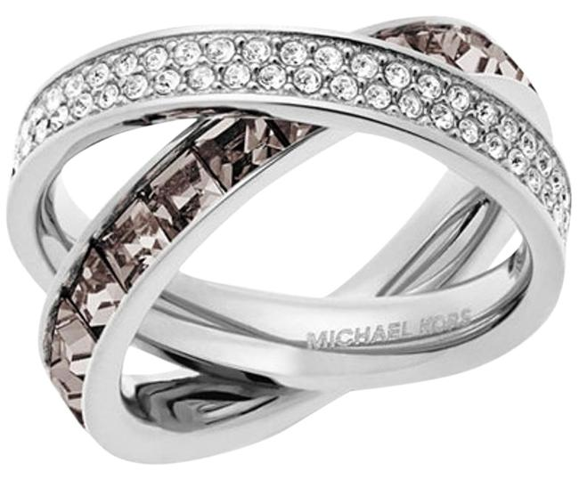 Item - Silver Smoke Silver-tone Pave and Square-cut Crystal Crisscross Msrp Ring