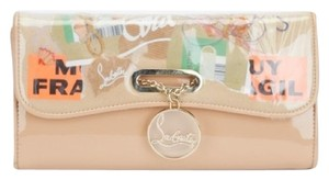 Christian Louboutin Rivera Trash Beige Clutch