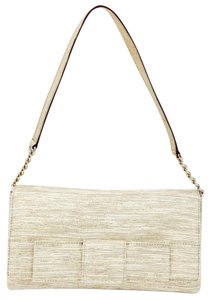 Kate Spade Bow Gold Cream Shoulder Bag