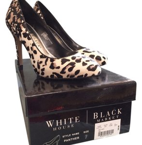 White House | Black Market Off White, Black & Camel Pumps