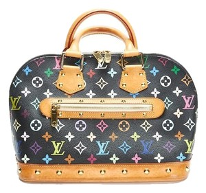 Louis Vuitton Alma Pm Purse Satchel in Black