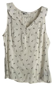 Forever 21 Top White with Navy