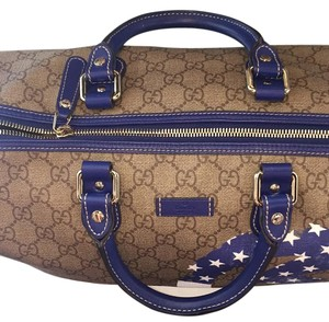 Gucci Satchel in Beige/Blue