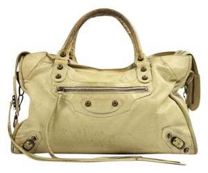 Balenciaga First Satchel in Beige