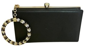 BVLGARI Leather Black Clutch