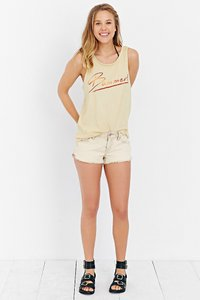 Urban Outfitters Soft Cotton Graphic Top Yellow