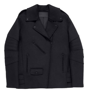Alexander Wang Wool Biker Moto Motorcycle Jacket