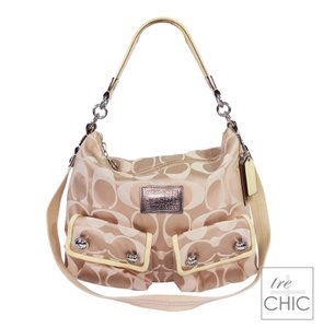 Coach Poppy Signature Jacquard Hobo Bag