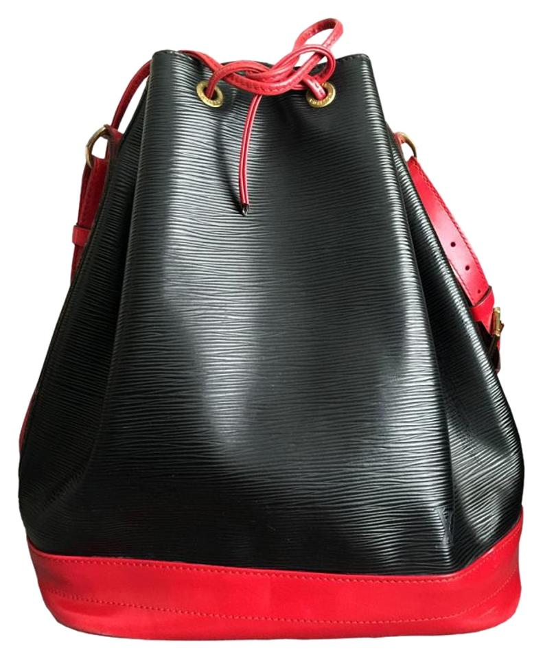 031bd726b65f Louis Vuitton Black Red Large Noe Black   Red Epi Leather Tote - Tradesy