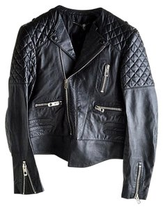 Balenciaga Leather Tough Motorcycle Jacket