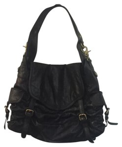 Kooba Bowler Shiny Leather Shoulder Bag
