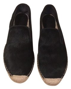 ElyseWalker Los Angeles Black calf hair Flats