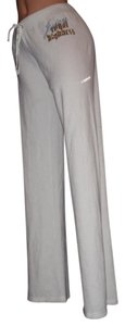 Juicy Couture Lounge College Sweats Glittery Couture Flare Pants WHITE