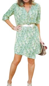 CAbi short dress Green/Tan on Tradesy