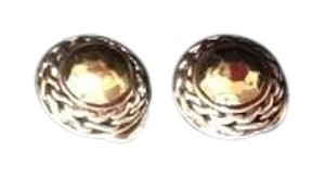 John Hardy JOHN HARDY SILVER/22K GOLD PALU ROUND EARRINGS