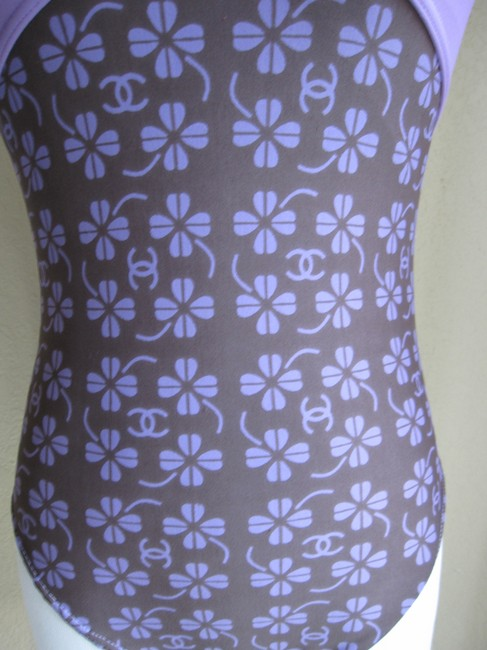 Chanel AUTHENTIC VINTAGE NEW WITOUT TAG/UNWORN CHANEL SWIMSUIT GORGEOUS LAVENDER WITH CC ICONS