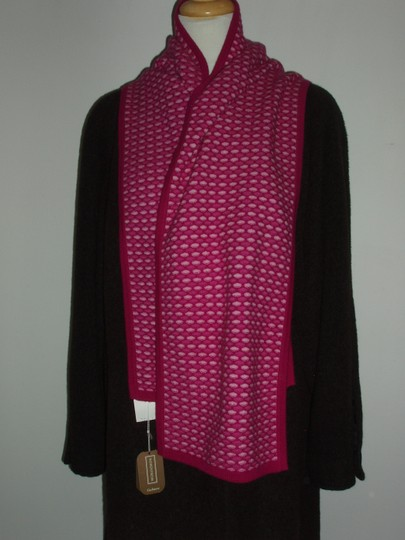 Nordstrom Nordstrom 100 Percent Cashmere Pink Reversible Pattern 66 x 10 Scarf NEW