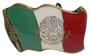 Other New Men Mexican Flag Patriotic Eagle Gold Green White Red Snake Belt Buckle