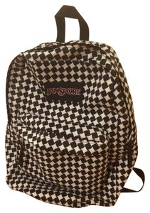 JanSport Black And White Backpack