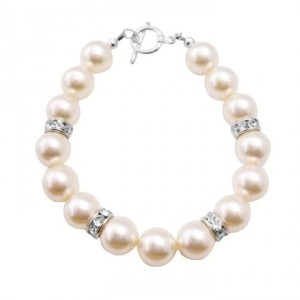 Big Pearls Bracelet Ivory Pearls Exclusively Gift Wedding Flower Girl