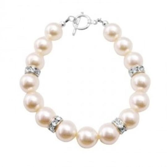 Ivory Big Pearls Pearls Exclusively Gift Flower Girl Bracelet