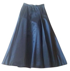 Jessica McClintock Vintage Maxi Skirt Shimmery Sapphire Blue