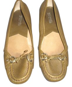 Michael Kors Leather Loafer taupe Flats