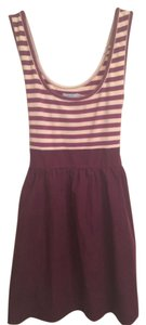 Urban Outfitters short dress Purple and White Striped Sleeveless on Tradesy