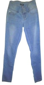 YMI Jeans Cotton Polyester Spandex Skinny Jeans-Light Wash