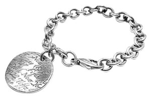 Tiffany & Co. Tiffany & Co Sterling Silver Round Note Bracelet