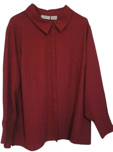 jacylyn smith Button Down Shirt red