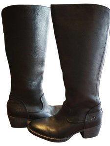Brn Born Leather Knee High Black Boots