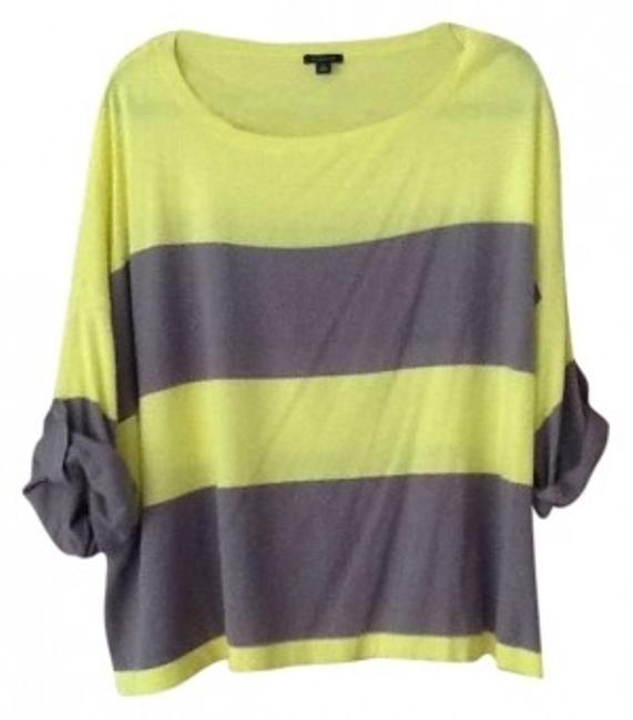 Preload https://img-static.tradesy.com/item/174172/ann-taylor-yellow-and-taupe-sweaterpullover-size-14-l-0-0-650-650.jpg
