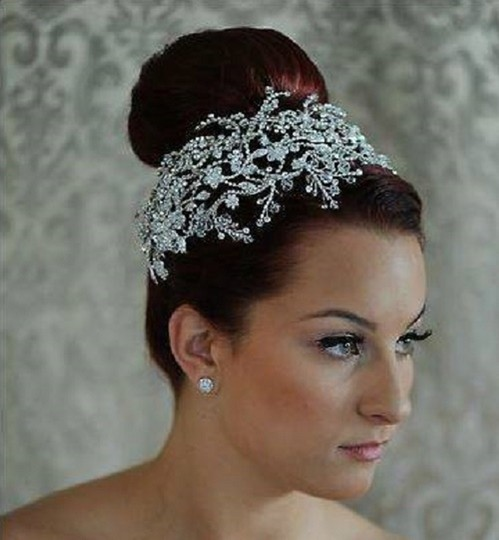 Bella Tiara Silver/Crystals Stunning Designer Headpiece Headband Hair Accessory