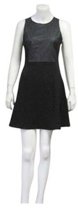 Romeo & Juliet Couture Casual Faux Leather Ruffle Dress