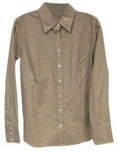 J.Crew Button Down Shirt Tan, White