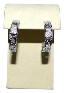 John Hardy JOHN HARDY Classic Chain Collection Diamond Pave Hoop Earrings
