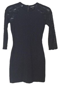 Express short dress Navy blue on Tradesy