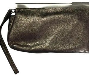 Calvin Klein Ck Leather Bronze Clutch