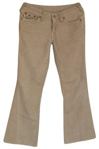 True Religion Boot Cut Pants Tan