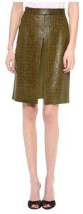 Jenni Kayne Crocodile Slit Skirt Green