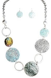 Mixed Discs Necklace & Earrings
