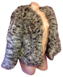 Michael Kors Faux Fur Fluffy Coat