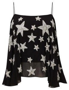 Kate Moss for Topshop Stars Sequin Top Black