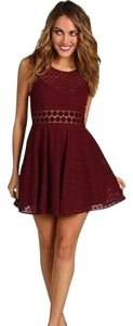 Free People short dress Maroon; burgandy; red; wine on Tradesy
