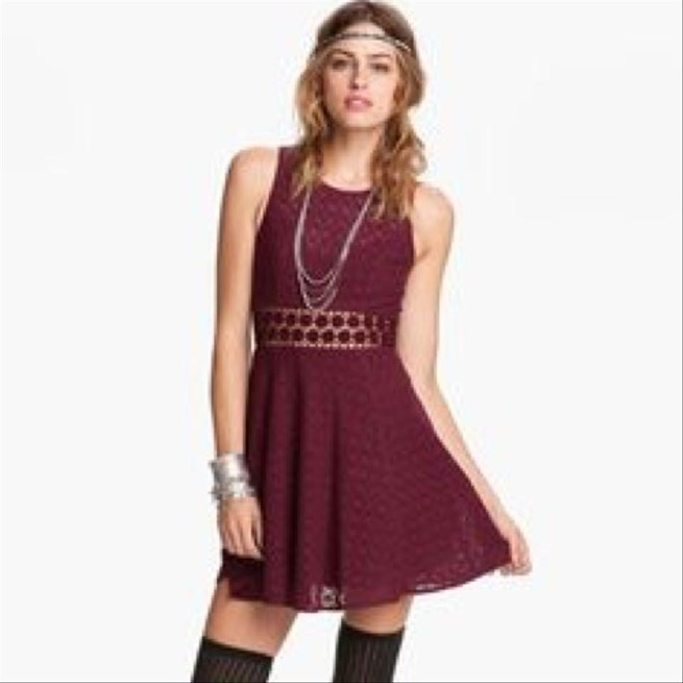 Free People Maroon; Burgandy; Red; Wine Daisy Cut Out