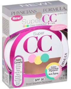 Physicians Formula Physicians Formula Super CC Color-Correction+Care Compact Cream, Light/Medium 6436