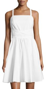 Halston short dress White on Tradesy