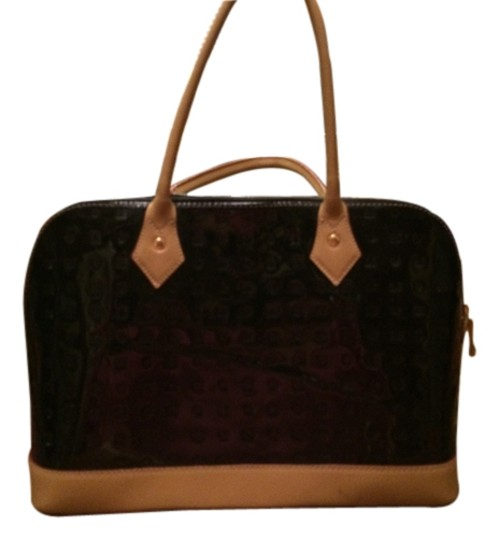 Arcadia Leather Classy Made In Italy Tote in Black/Tan